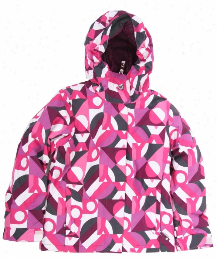 Roxy Glider Snowboard Jerkin Fllora/phlox Pink Teenie Moonlight