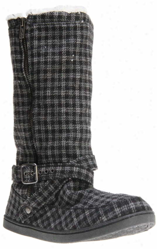 Roxy Hickory Wool Casual Boots Black