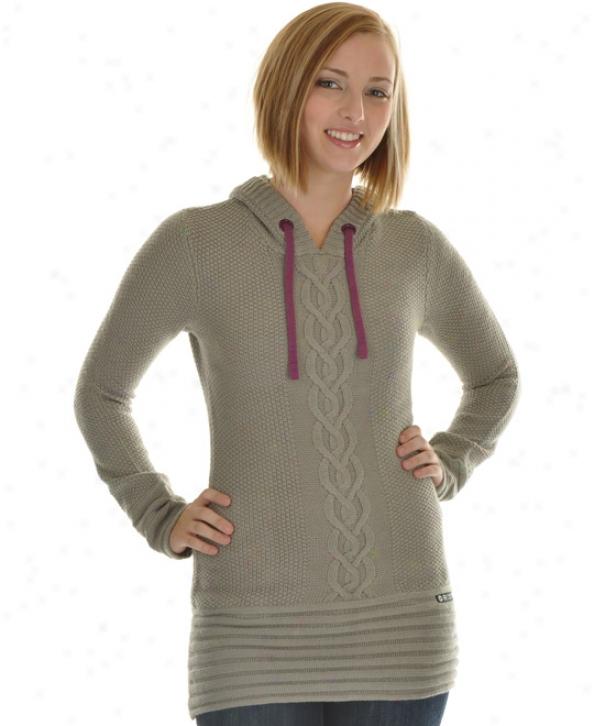Roxy Icimg Sweater Grey Lace