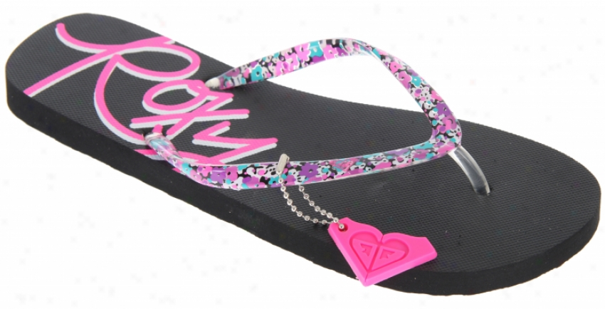 Roxy Mimosa Ii Sandals Black/pink Ditsy