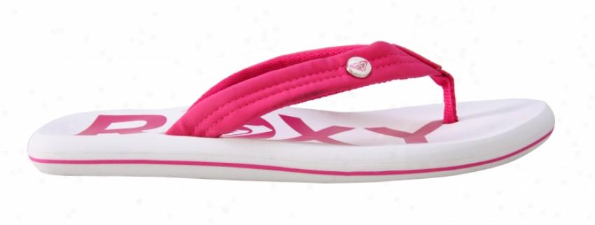 Roxy Speedy Sandals White/pink