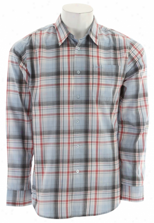 Rvca Ducky L/s Shirt Exactly Blue