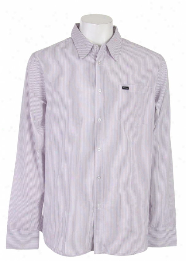 Rvca Neewberg Stripe L/e Shirt White