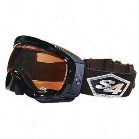 S4 Transfer Snowboard Goggles Black/black/flsh Mirror Amber Lens