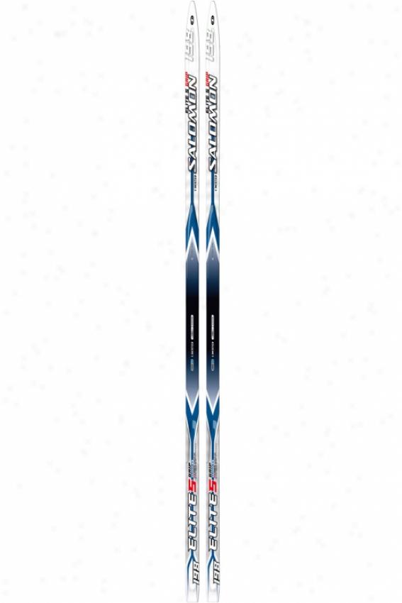 Salomon Elite 5 Grip Intermix Country Skis Ble/white