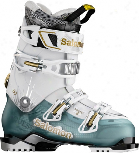 Salomon Quest 8 Ski Boots Cold Sea Tdanslucent/white