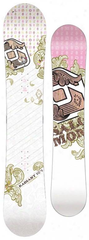 Salomon Radiant Snowboard White Paisley 148