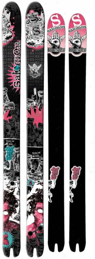 Salomon Rocker Skis Black/pink/greem