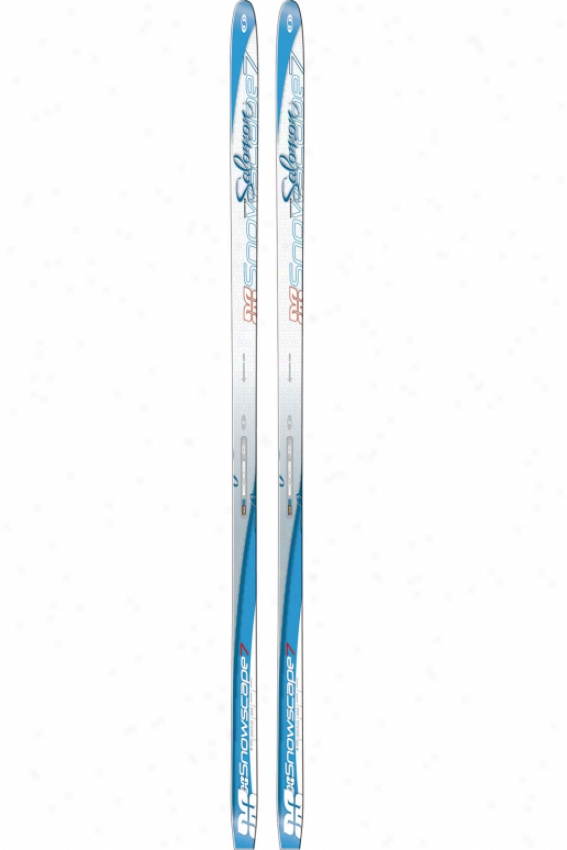 Salomon Snowscape 7 Siam Cross Country Skis White Blue