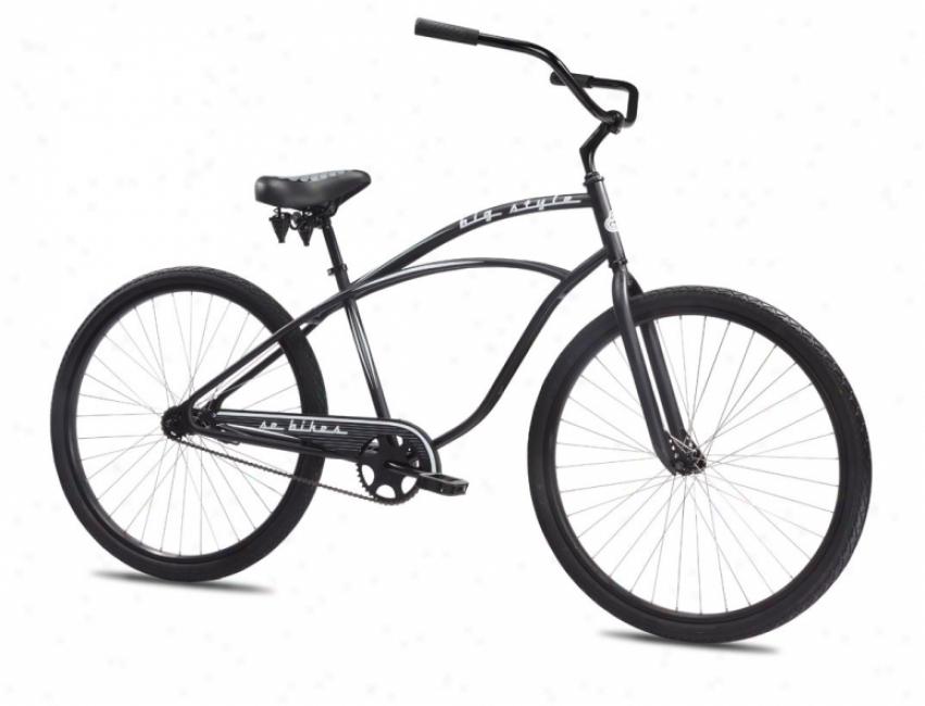 "Se Big Style Single Speed Beach Cruiser Bike Mourning Matte 29"""