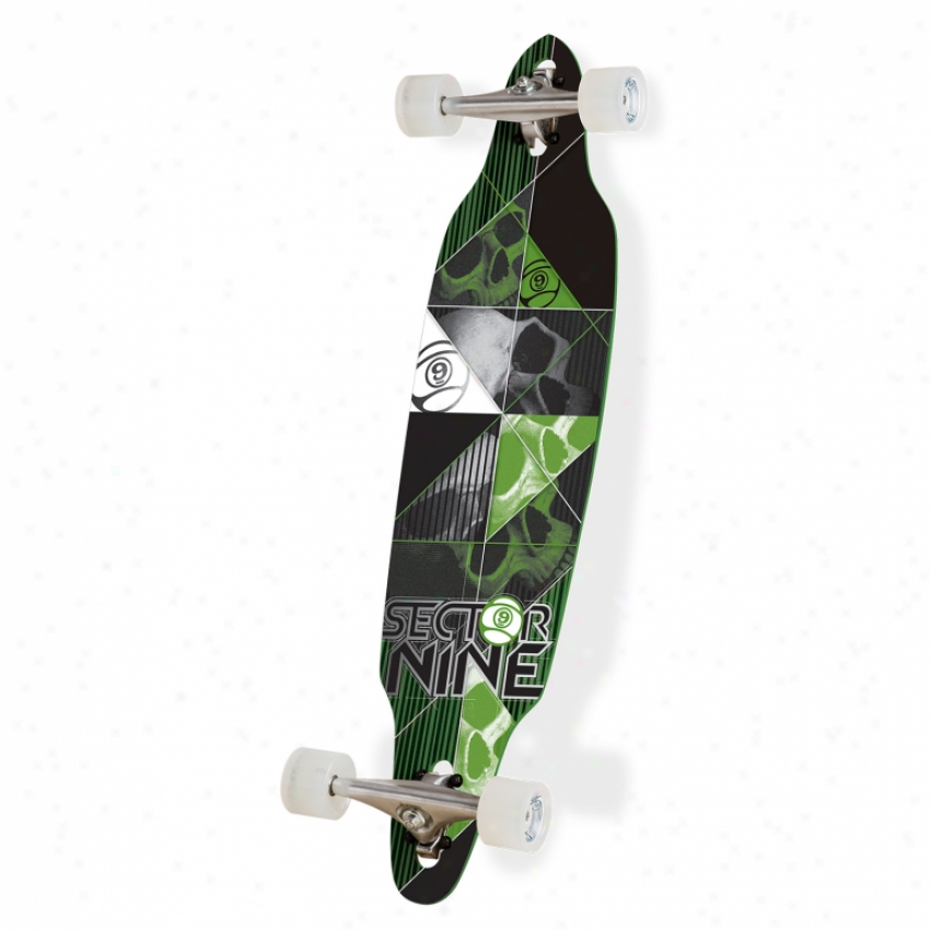 Sector 9 Carbon Decay Longboard Skateboard Complete Green