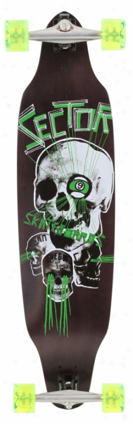 Sector 9 Carbon Decline Platinum Longboard Skateboard Complete Green