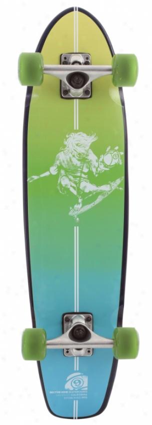 Sector 9 Carvin 9'er Og Longboard Skateboard Complete Green