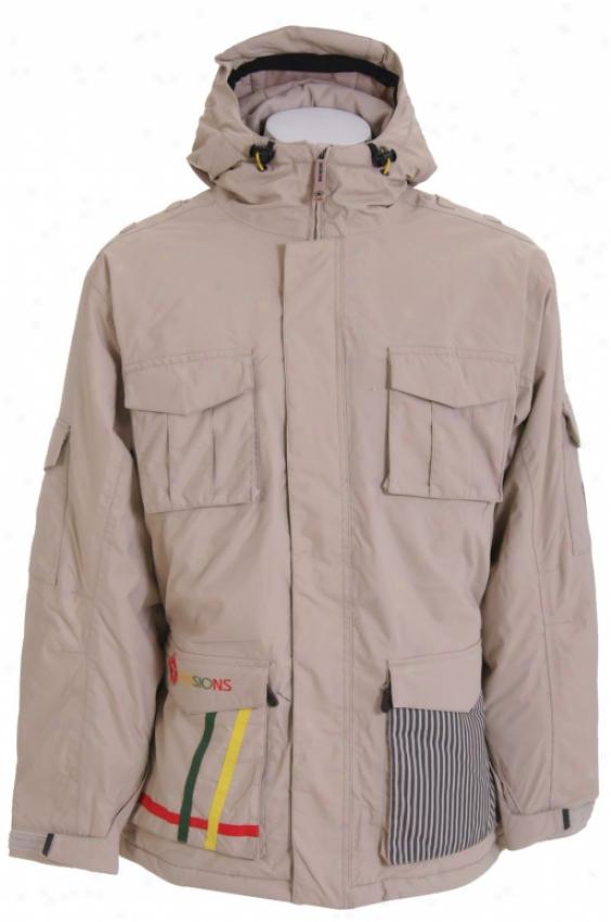 Sessions Bozung Snowboard Jacket Desert Khakl