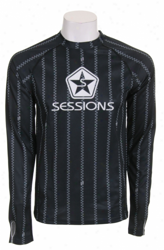 Sessions Diffusion First Layer Crew Shirt Black/white Pinzip