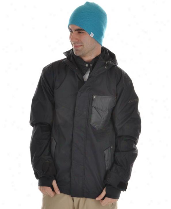 Sessions Ignition Snowboard Jacket Black Magic