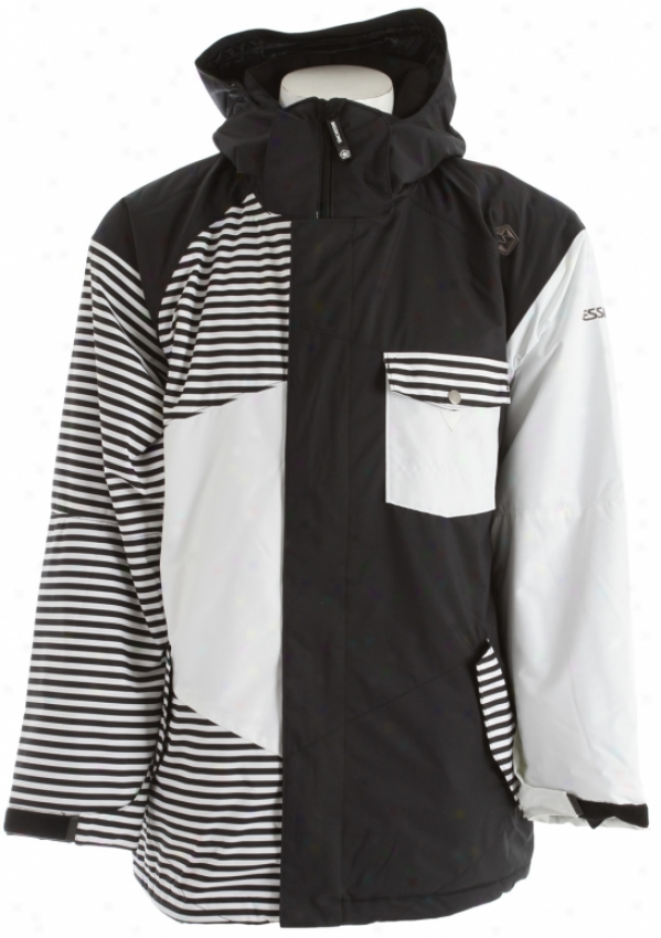 Sessions Istodis Mini Stripe Snowboard Jacket Black Mini Stripe