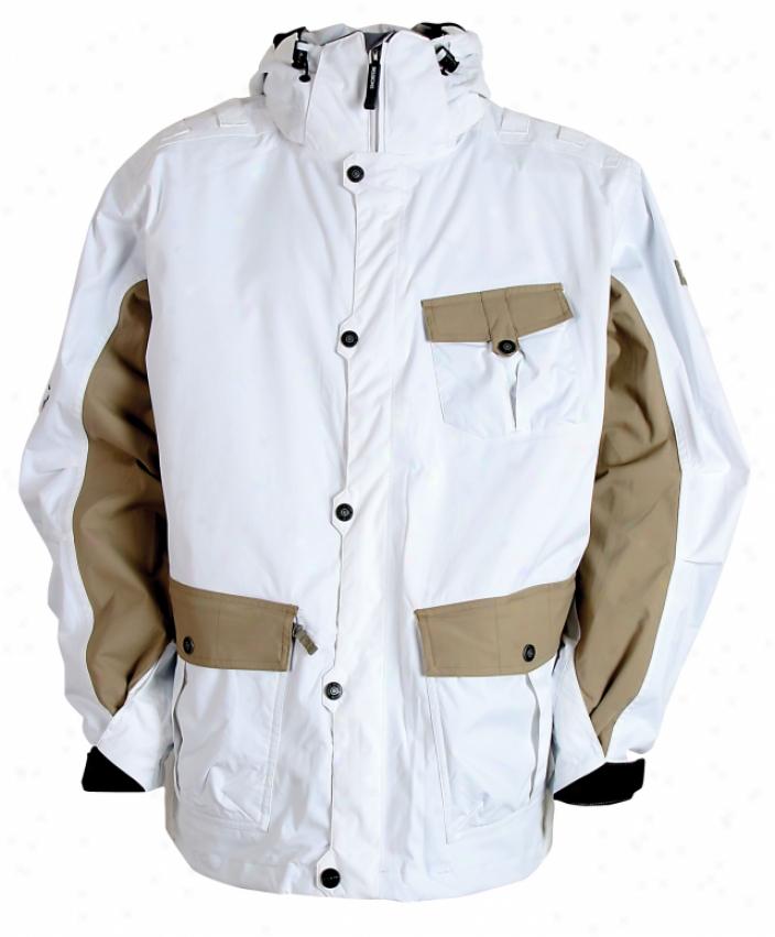 Sessions Leatherneck Snowboard Jacket Studio White