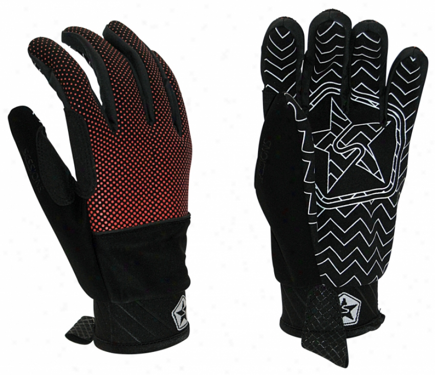 Sessions M Dazed Pope Snowboard Gloves Tang