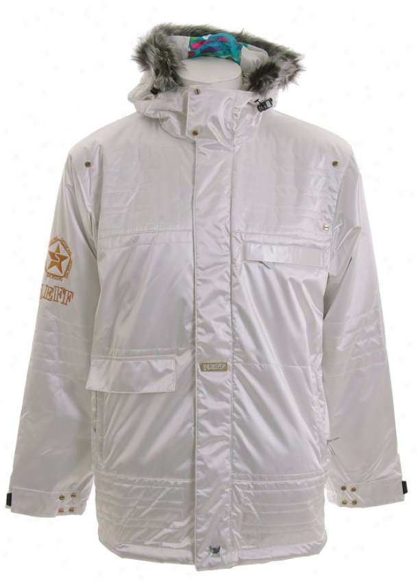 Sessions Neff Snowboard Jacket Studio White