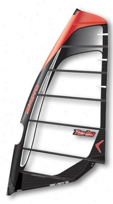 Severne Turbo Windsurf Glide 6.5 Black/orange