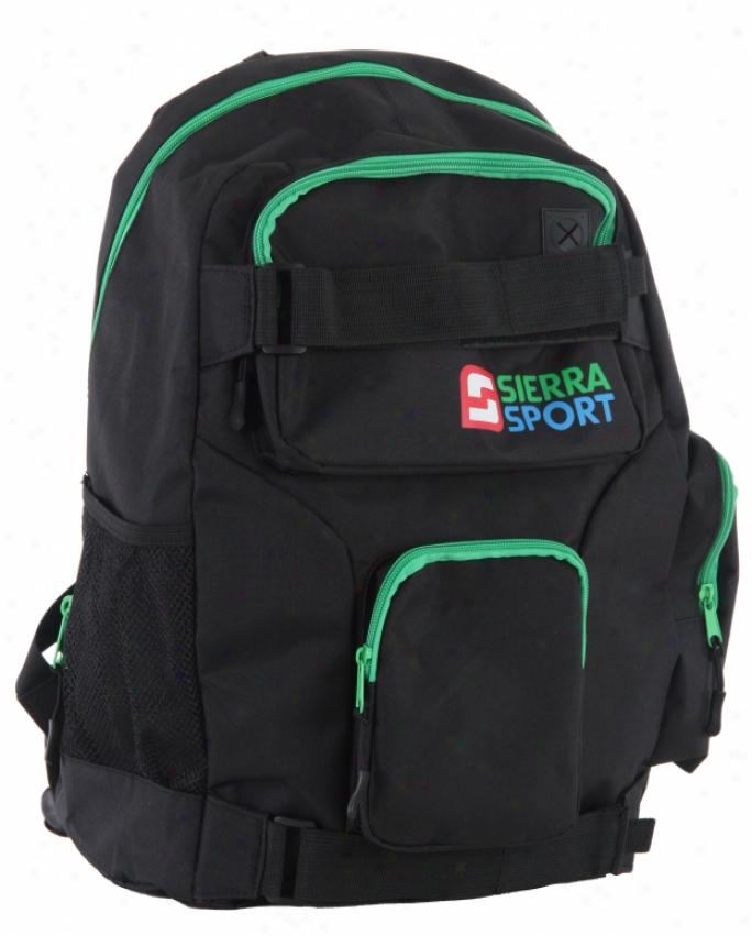 Sierra Logo Backpack Black/blue/green