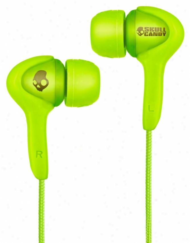 Skullcandy Smokin Buds Earrbuds W/ Mic Audiophile Green