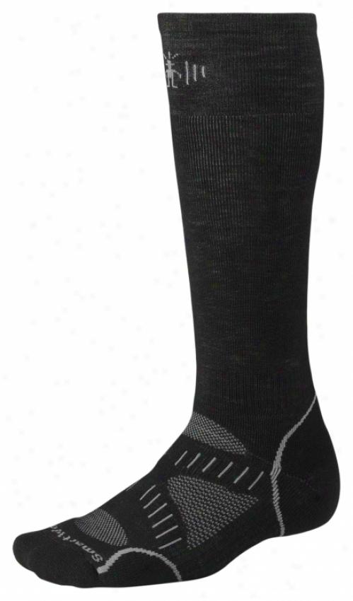 Smartwool Phd Snowboard Medium Socks Black/graphite
