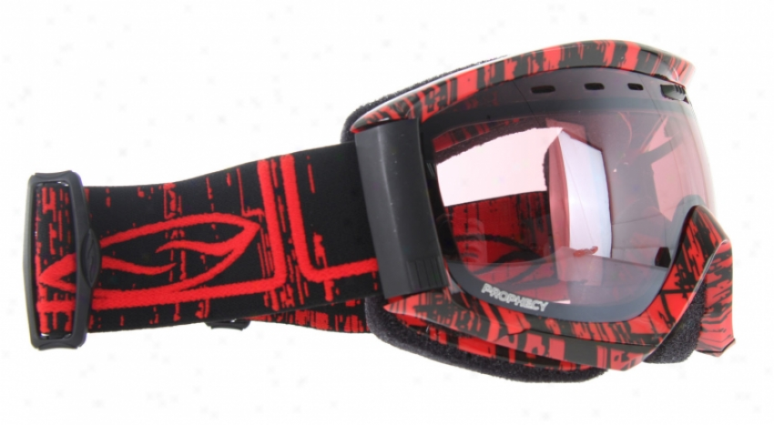 Forge Prophecy Snowboard Goggles Black/red Rise&fall/ignitor Mirror Lens