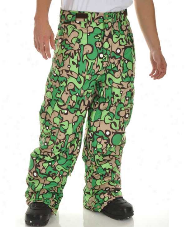 Special Blend Mark Snowboard Pants Green Fader Flage