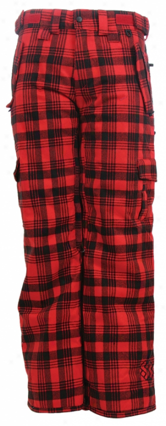 Special Blend Scarlet Le Snowboard Pants Tartan Plaid