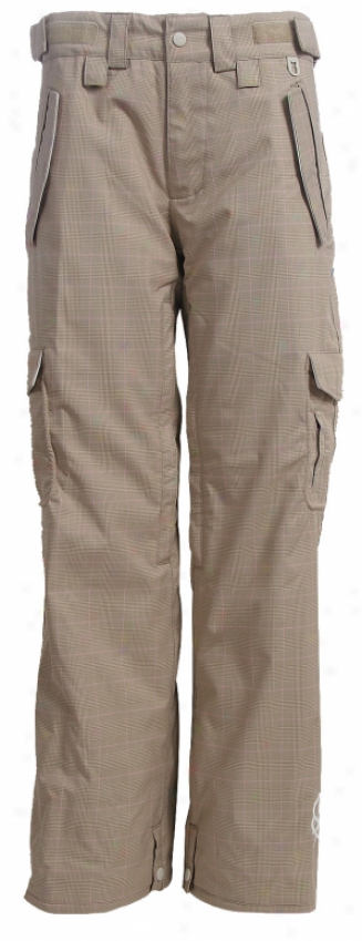 Special Blend Scarlet Snowboard Pants Tan Check Grid