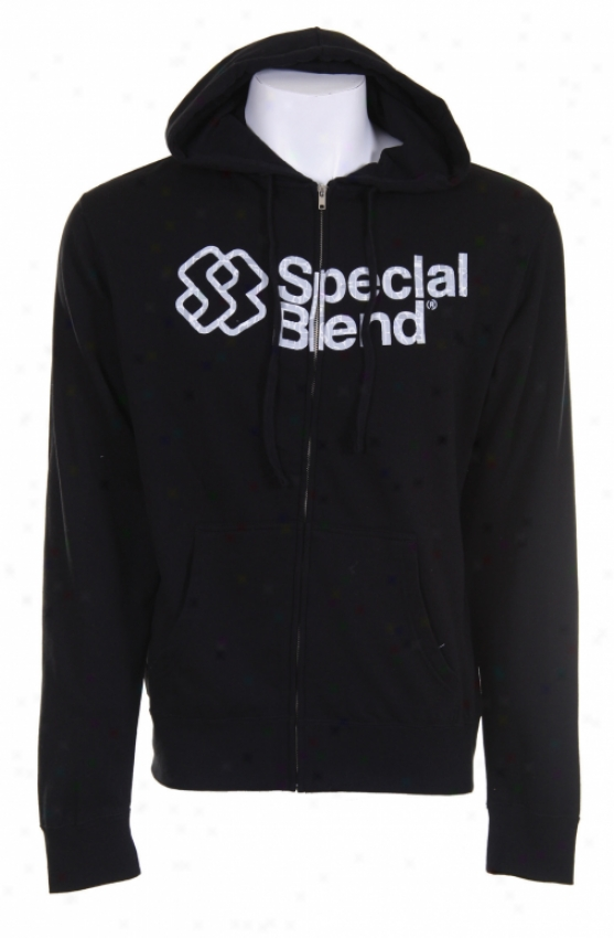 Special Blend Struggle Wordmark Full Zip Hoodie Black
