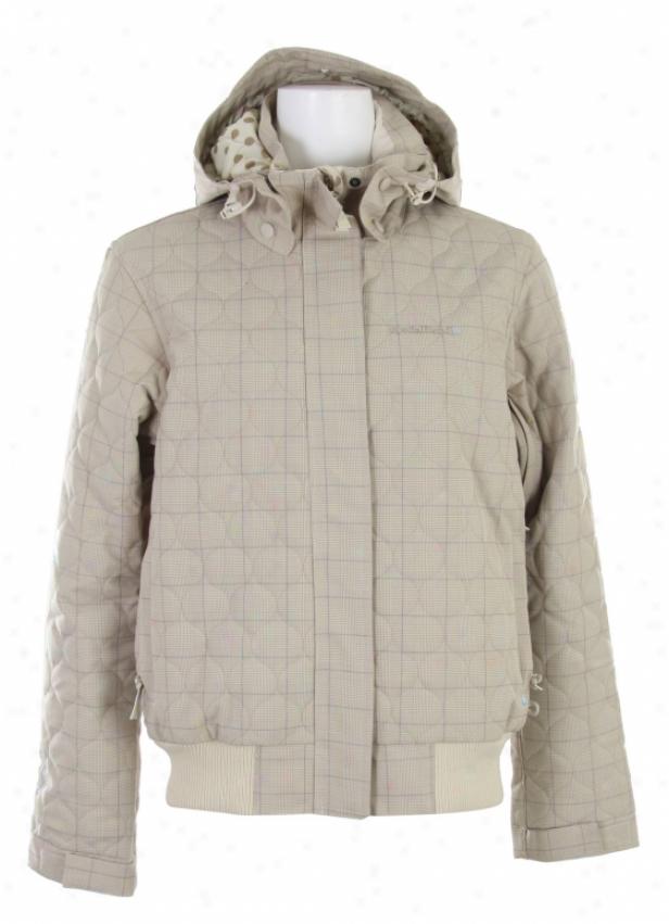 Special Blend True Snowboard Jacket Tan Check Grid
