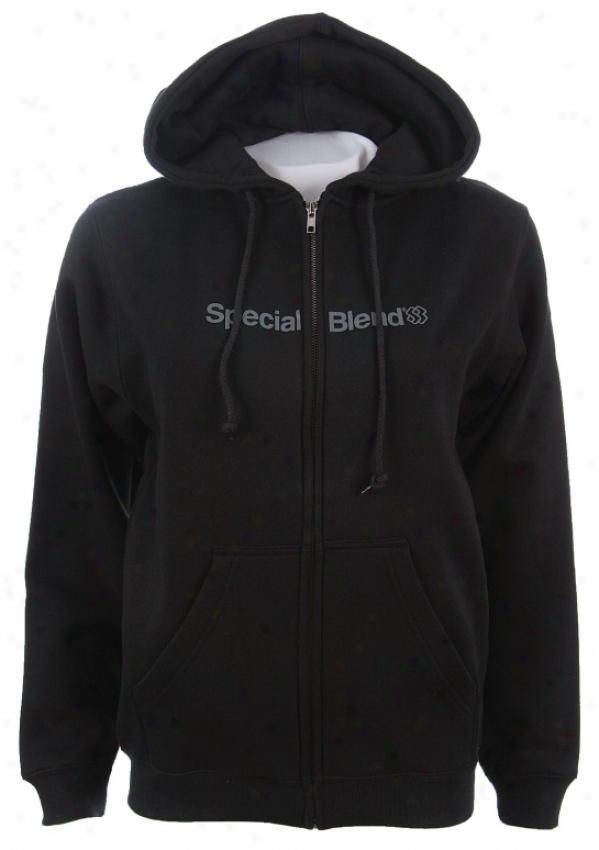 Special Blend Wordmark Zip Hoodie Black