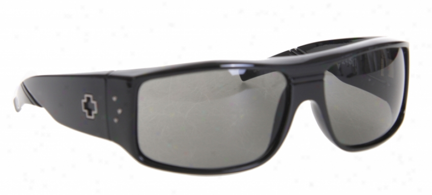 Spy Clqsh Sunglasses Gloss Black/grey Lens