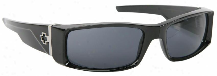 Spy Hielo Sunglasses Black Shony/grey Lens