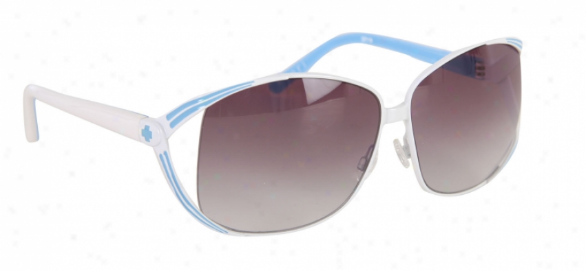 Spy Kaori Sunglasses White Blue/black Fade Ldns
