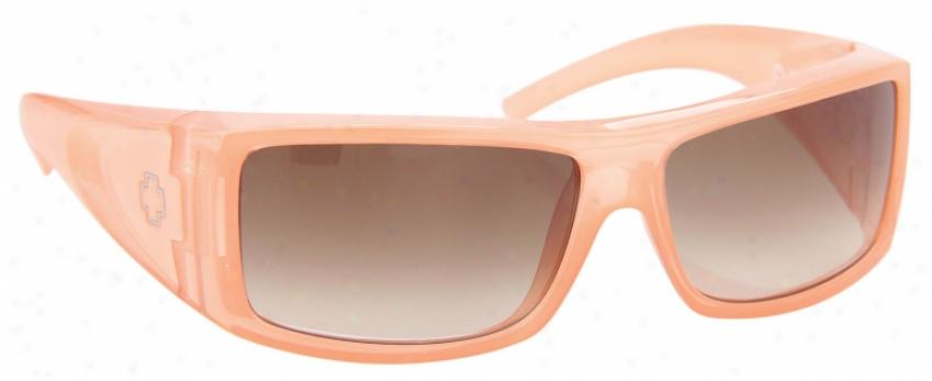 Spy Oasis Sunglasses Peach Powder/bronze Fade Lens