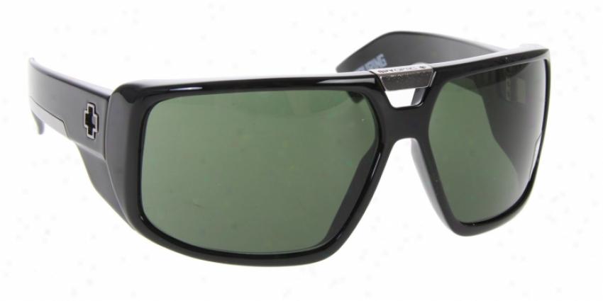 Spy Touring Sunglasses Black Shiny/grey Green Lens