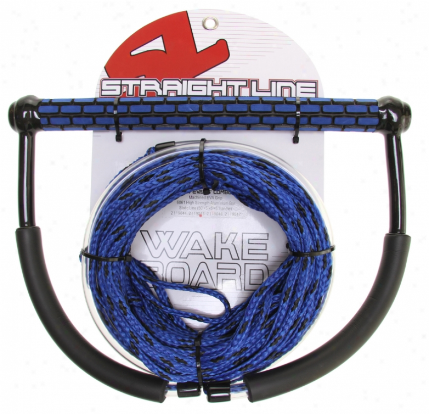 Straight Line Tr9 Handle W/ Static Lins Combo Blue 65ft