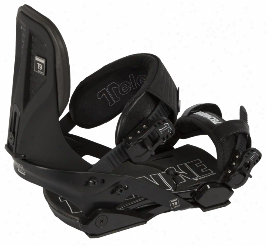 Technine Elements Pro Snowboard Bindings Black