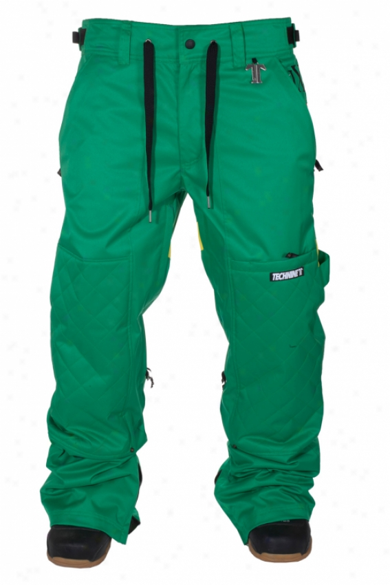 Tecnine Rugby Shell Snowboard Pants Rasta Green