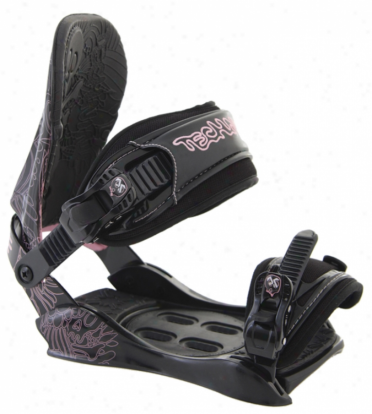 Technine T9 Snowboard Bindings Black/rose