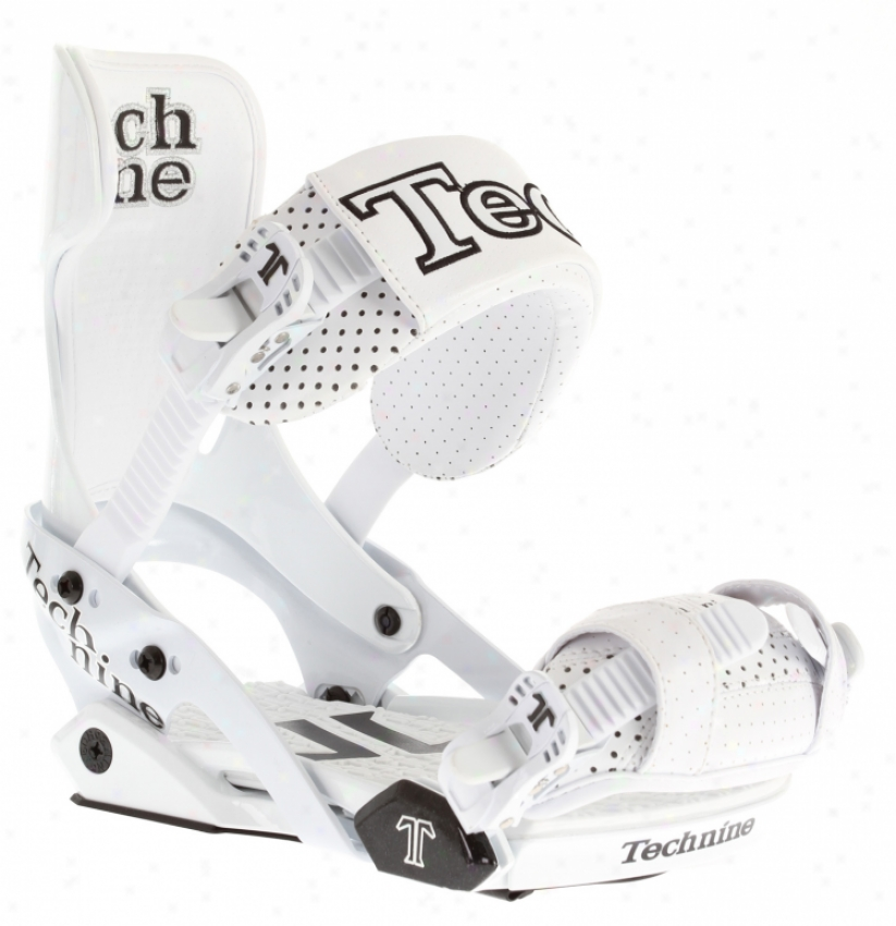 Technine Team Pro W/ Scrubhook Snowboard Bindings White