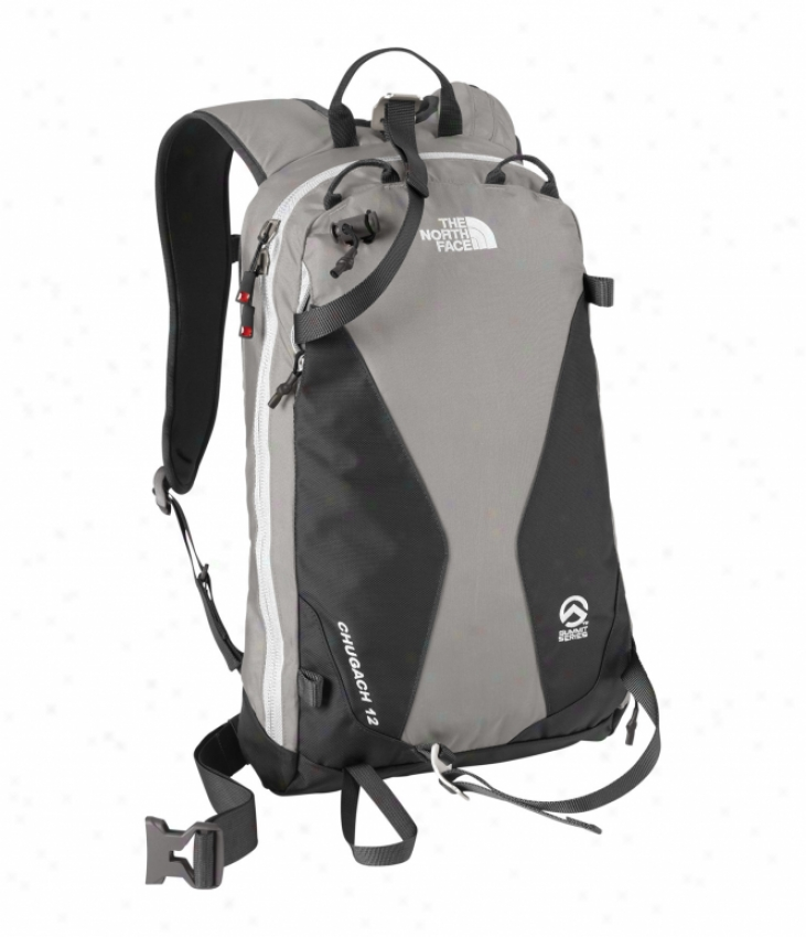 The North Face Chugach 12 Backpack Zinc Grey/white