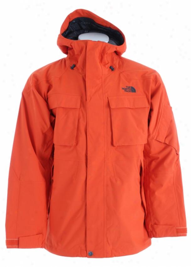 The North Face Decagon Ski Jacket Flare Orange
