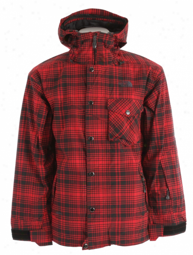 The North Face Pemby Ski Jackrt Chili Pepper Red