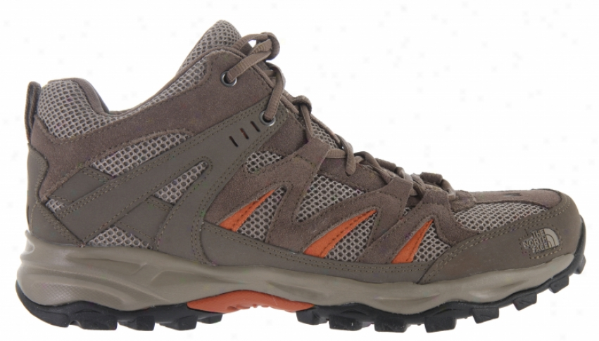 The North Face Tyndall Mid Hiking Shoes Shroom Brown/bombay Orange
