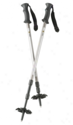 Tubbs 3 Part Snowshoe Poles Black